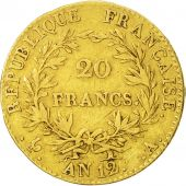 France, Napoléon I, 20 Francs, 1804, Paris, TB+, Or, KM:651, Gadoury:1020