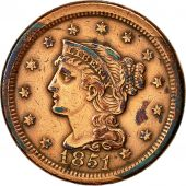 États-Unis, Braided Hair Cent, Cent, 1851, U.S. Mint, Philadelphie, TTB+