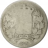 France, Charles X, 2 Francs, 1830, Lille, VG(8-10), Silver, KM:725.13
