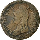 coin, France, Dupré, 2 Décimes, 1795, Paris, VF(30-35), Bronze, KM:638.1
