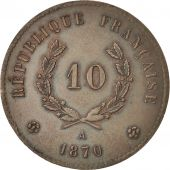 Gouvernement De Défense Nationale, 10 Centimes 1870, Essai