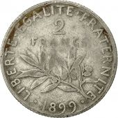Coin, France, Semeuse, 2 Francs, 1899, Paris, VF(20-25), Silver, KM:845.1