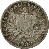 Coin, France, Semeuse, 2 Francs, 1900, Paris, VF(20-25), Silver, KM:845.1