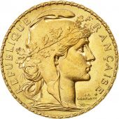 Coin, France, Marianne, 20 Francs, 1908, MS(60-62), Gold, KM:857, Gadoury:1064a