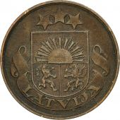 Coin, Latvia, 2 Santimi, 1922, EF(40-45), Bronze, KM:2