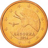 Andorra, 5 Cents, 2014, AU(55-58), Copper
