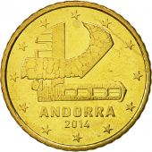 Andorra, 50 Cents, 2014, MS(60-62), Brass