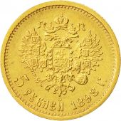 Coin, Russia, Nicholas II, 5 Roubles, 1898, St. Petersburg, EF(40-45), Gold