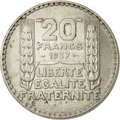 Coin, France, Turin, 20 Francs, 1937, Paris, AU(50-53), Silver, KM:879