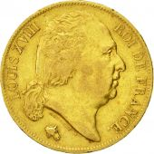 Coin, France, Louis XVIII, 20 Francs, 1819, Lille, VF(30-35), Gold, KM 712.9