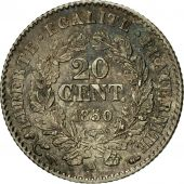 Coin, France, Cérès, 20 Centimes, 1850, Paris, MS(63), Silver, KM:758.1
