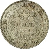 Coin, France, Cérès, 20 Centimes, 1851, Paris, MS(60-62), Silver, KM:758.1
