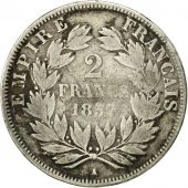 Coin, France, Napoleon III, 2 Francs, 1857, Paris, VF(20-25), KM 780.1