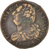 France, Constitution, 2 Sols Fran�ois 1792 A (Paris), KM 603.1