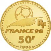 France, Vème République, 50 Francs Or 1996, Coupe du monde 1998, KM 1145