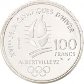 Vème République, 100 Francs Albertville, Patinage, 1989, KM 972