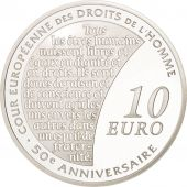 France, 10 Euro, 2009, Droits de lHomme, BE, Argent, KM:1584