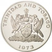 TRINIDAD & TOBAGO, 5 Dollars, 1973, Proof, Silver, KM:8