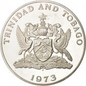 TRINIDAD & TOBAGO, 10 Dollars, 1973, Proof, Silver, KM:24a