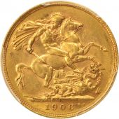 Australia, Edward VII, Sovereign, 1906, Perth, PCGS, AU55, Gold, KM:15