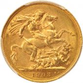 Australie, Edward VII, Sovereign, 1903, Perth, PCGS, AU58, Or, KM:15