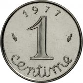 France, Épi, Centime, 1977, Paris, MS(65-70), Stainless Steel, KM:928