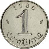 France, Épi, Centime, 1980, Paris, MS(65-70), Stainless Steel, KM:928