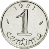 France, Épi, Centime, 1981, Paris, MS(65-70), Stainless Steel, KM:928