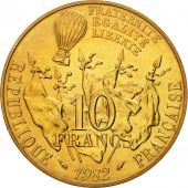 France, Gambetta, 10 Francs, 1982, Paris, FDC, Nickel-Bronze, KM:950