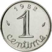 France, Épi, Centime, 1982, Paris, MS(65-70), Stainless Steel, KM:928