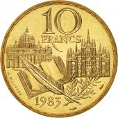 France, Stendhal, 10 Francs, 1983, Paris, FDC, Nickel-Bronze, KM:953