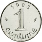 France, Épi, Centime, 1983, Paris, MS(65-70), Stainless Steel, KM:928