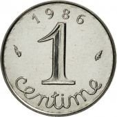 France, Épi, Centime, 1986, Paris, MS(65-70), Stainless Steel, KM:928