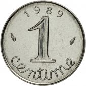 France, Épi, Centime, 1989, Paris, MS(65-70), Stainless Steel, KM:928