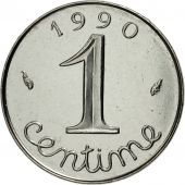 France, Épi, Centime, 1990, Paris, MS(65-70), Stainless Steel, KM:928