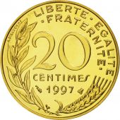France, Marianne, 20 Centimes, 1997, Paris, MS(65-70), Aluminum-Bronze, KM:930