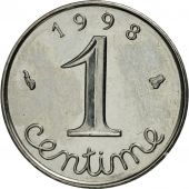 France, Épi, Centime, 1998, Paris, MS(65-70), Stainless Steel, KM:928