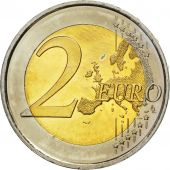 Spain, 2 Euro, Traité de Rome 50 ans, 2007, MS(63), Bi-Metallic