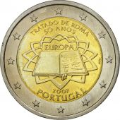 Portugal, 2 Euro, Traité de Rome 50 ans, 2007, MS(63), Bi-Metallic