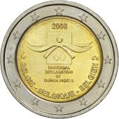Belgique, 2 Euro, Universal Declaration of Human Rights, 2008, SPL, Bi-Metallic