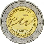 Belgium, 2 Euro, Presidency of the European Union, 2010, MS(63), Bi-Metallic