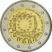 Cyprus, 2 Euro, Flag, 2015, MS(63), Bi-Metallic