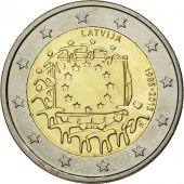 Latvia, 2 Euro, Flag, 2015, SPL, Bi-Metallic
