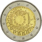 Netherlands, 2 Euro, Flag, 2015, MS(63), Bi-Metallic