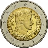 Latvia, 2 Euro, Portrait, 2014, SPL, Bi-Metallic