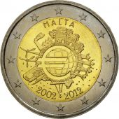 Malte, 2 Euro, 10 years euro, 2012, SPL, Bi-Metallic