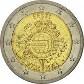 Estonia, 2 Euro, 10 years euro, 2012, MS(63), Bi-Metallic