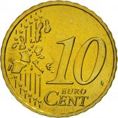 GERMANY - FEDERAL REPUBLIC, 10 Euro Cent, 2006, MS(63), Brass, KM:210