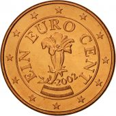 Autriche, Euro Cent, 2002, SPL, Copper Plated Steel, KM:3082