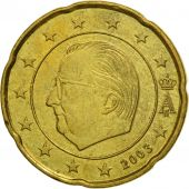 Belgium, 20 Euro Cent, 2003, MS(63), Brass, KM:228